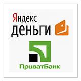 Яндекс Деньги на карту ПриватБанка